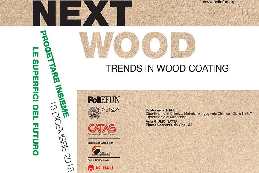 """Sherwin-Williams Italy relatore alla giornata """"Next wood: trends in wood coating"""" organizzata dal politecnico di Milano"""